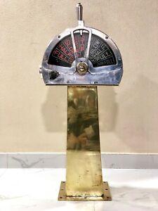 OLD SHIP AUTHENTIC SALVAGE ENGINE ORDER MARINE TELEGRAPH (EOT) BRASS & ALUMINUM