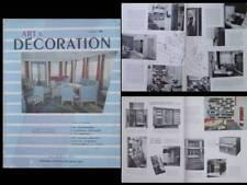 ART ET DECORATION 36 1953 Prouvé PERRIAND, PAQUEBOT BOURDONNAIS,TOURVOIE FRESNES