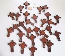 Wholesale Lot of 25 Small Wood Sunburst Crosses