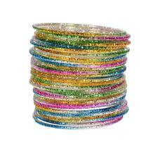 Fashion Jewelry Multi Colored Children's Kids Bracelet Indian Bangles 50Pcs Set