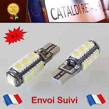 2 x Veilleuses LED T10 W5W 13 SMD Canbus Anti Erreur ODB Blanc Pur / FRANCE !