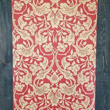 4 ROLL LOT - York Antonina Vella Designer Red Tan Metallic Gold Wallpaper Diy