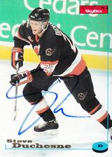 New listing Steve Duchesne Autograph 96-97 Impact Senators Card Kings - Red Wings