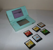 Nintendo DS Lite Games Console In Turquoise Blue Gaming No Charger X6 GAMES