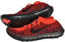 Nike Free 3.0 Flyknit UK 11 EUR 46 Bright Crimson Uni Red Black 636232 601