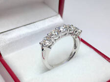 1.60 Ct Diamond Engagement Wedding Eternity Band 14K Solid White Gold Size M N O