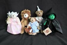 Boyds Bears Plush ~ Wizard Of Oz ~ Set of 6 ~ The Head Bean