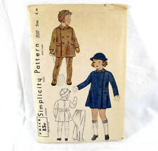 Vintage Sewing Pattern Boys Girls COAT HAT LEGGINGS Wnter Clothes 2537 Size 8