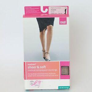 Mediven Sheer & Soft - Natural - Thigh w/ topband - Closed Toe VI - 20-30 ~43206
