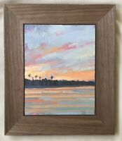 """Florida Sunset"" original oil painting Jensen Beach Treasure Coast 8""x 10"""