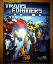 Panini Transformers Prime Sealed 210 Complete Stickers & Empty Album