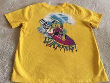 Gap Kids Boys Yellow Purple Blue Dinosaur Surfboard Short Sleeve Shirt 6-7