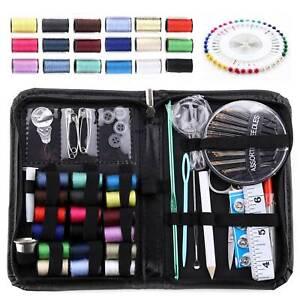 107 Piece Travel Mini Sewing Kit Thread Scissor Tape Pin Thimble Needle Home Sew