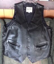 Open Rd., Wilson Leather Motorcycle Vest (Men's)