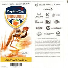 2014 ORANGE BOWL GT YELL JACKETS VS MISS ST BULLDOGS FULL TICKET DAK PRESCOTT
