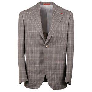 Isaia 'Marechiaro' Light Brown Layered Check Super 140s Wool Suit 42R (Eu 52)