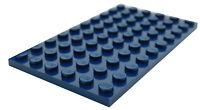 Lego 2 Stück Platten 6x10 in dunkel blau 3033 Neu dunkelblaue Platte Basics City