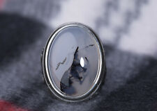 925 Sterling Silver Men's Wedding Band Turkish Onyx Stone Statement Jewelry