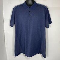 Lululemon Tech Pique Polo Golf Shirt Mens XXL Short Sleeve Navy Blue Athletic