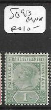 MALAYA STRAITS SETTLEMENTS (P0905B) QV  1C  SG 95  MNH