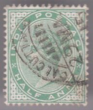 Inde Half Anna 1882-90 USED TIMBRE-Victoria vert