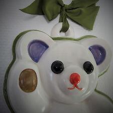 Thun * Teddy * Wandobjekt * Bozner Keramik * großer Bär mit Schleife * wie neu