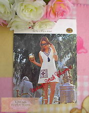 Vintage 70s Knitting Pattern Lady's Fair Isle Trimmed Summer Dress. 34-38 Bust