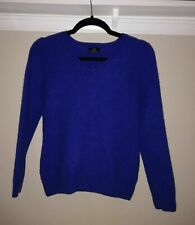 Ladies 100% Cashmere Jumper Size 8 Blue