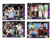 ELVIS PRESLEY movies 4 SOUVENIR SHEETS MNH UNPERFORATED music