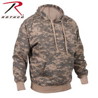 Hoodie Pullover  Woodland Camo Camouflage Acu Digital Camo Hooded Sweatshirt