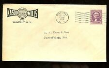 US Farm Related Advertising Cover (Kasco Mills Grain Products) 1934 Waverly, NY