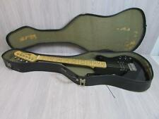 * Hondo Electric Guitar Musical Instrument Black In Case Tested