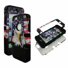 Bk Eagle Hybrid 3 in1 Apple Iphone 5 5S Case Hard Cover Faceplate