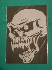 skull Mylar reusable stencil 10 mils for Airbrush T shirt design tattoo