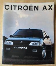 CITROEN AX range 1991 1992 UK Mkt Sales Brochure - Inc GT & GTi