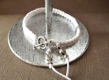 Bracelet noué blanc * fermoir Rond * Enfant Garçon ou fille * bonbons * cadeau