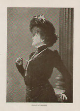 Sarah Bernhardt Actress Theatre Antique Art Print Rare
