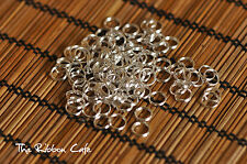 Split rings 8mm diameter silver plated 100 pieces