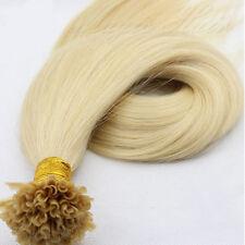 U/Nail Fusion Keratin Tip Remy Human Hair Extensions 7A Pre Bonded 50/100g SK042