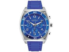 New Caravelle New York by Bulova 45A115 Mens Blue Chronograph Quartz Watch