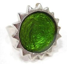 SoHo® Ring Sonne silber Kunstharz grün retro resin kaltemail mode style SoHo