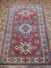 3' x 5' Kazak Attic Carpet Ell Hand Knotted Area Rug (39x63 in)