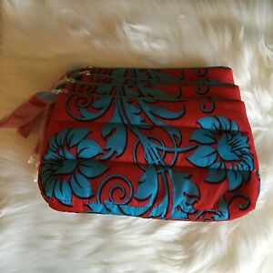 Lot of 5 ESTEE LAUDER COSMETIC MAKEUP ZIPPERED BAG CASE TOTE TRAVEL