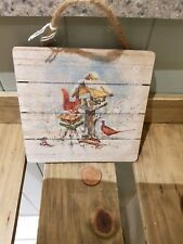 Wooden wall hanging plaque, Christmas squirrels, rustic,country,shabby chic