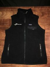 NWT Patagonia Synchilla Snap-T Vest Large Black Fleece Full zip Embroidered