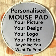 Custom Made Personalized ROUND Overlocked Mouse Pad Photo Logo picture mouse mat