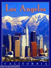 Los Angeles California United States of America Travel Poster Art Advertisement