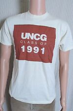 Vintage '90s UNCG North Carolina Greensboro class of '91 beige t shirt S