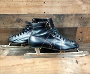 PLANERT Winner Bauer VTG  Leather Ice Skates Canada Collectible Mens Sz 8 w/BOX