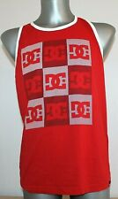 Mens DC Shoes T-Shirt Sleeveless Red Logo Cotton Size S Small Unisex Skate